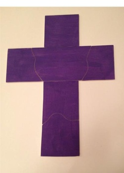 Lenten Cross Puzzle Pieces